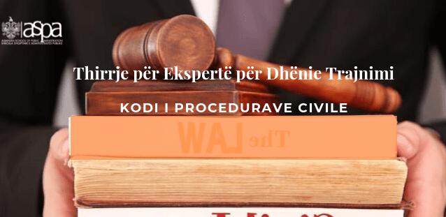 Kodi i Proçedurave Civile