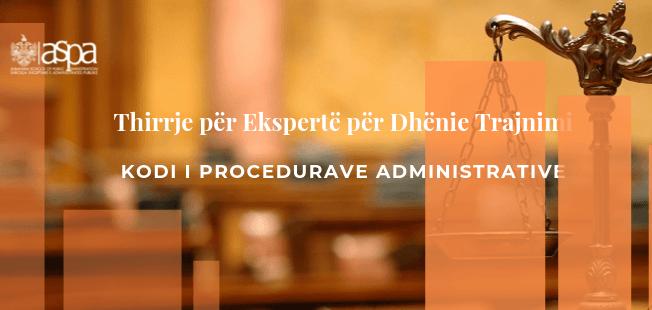 Kodi i Proçedurave Administrative